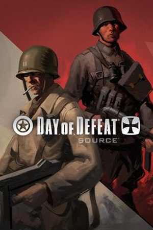 Day of Defeat: Source - Box cover showing an Axis and Allied soldier, representing the two teams.