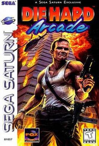 Die Hard Arcade - North American Saturn cover art
