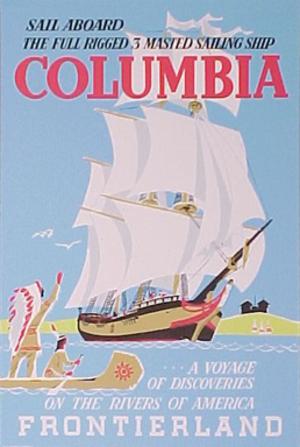 Sailing Ship Columbia - Image: Disneyland Columbia Poster