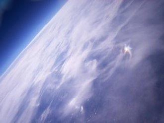 "CU Spaceflight - This photo from the Nova 1 flight, entitled ""Earth from 32km"", won the Owlstone Photography Prize for 2007"