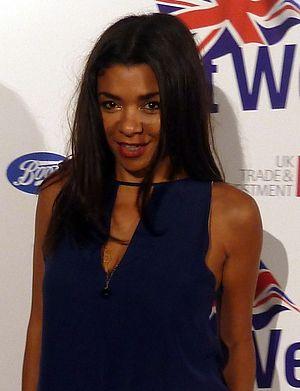 Emma Ferreira - Emma Ferreira walking down the red carpet at the BritWeek Event 2012.
