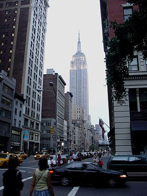 Empire State Building from 5th Avenue