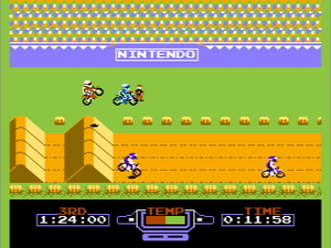 Excitebike - A screenshot of the game.