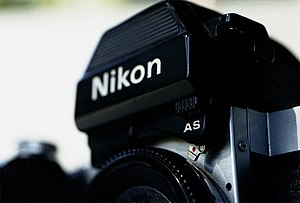 Nikon F2 - An F2AS (incl DP-12 prism). The EV metering range is a remarkable -2 to 17 with 100 ASA film.