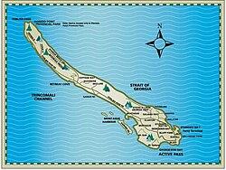 Galiano Island Map Galiano Island   Wikipedia