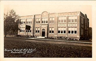 General Amherst High School - General Amherst High School (circa 1922) Amherstburg, Ontario