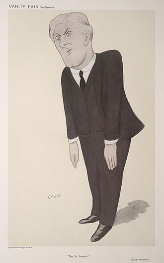 "George Alexander (actor) - ""The St James's"" Alexander as caricatured by Max Beerbohm in Vanity Fair, January 1909"