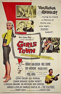 <i>Girls Town</i> 1959 film by Charles F. Haas