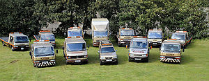 Vehicle recovery - A typical assortment of recovery vehicles