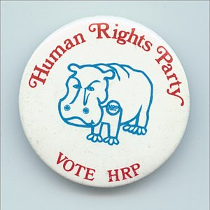 Human Rights Party (United States) - Image: HR Pbutton