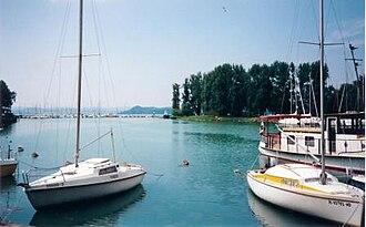 Balatonföldvár - Harbor and Galamb sziget (Pigeon Island)