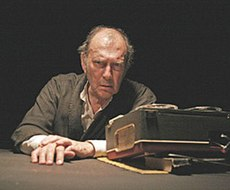 Krapp, as portrayed by Harold Pinter at the Royal Court Theatre in October 2006; BBC Four, 21 June 2007.