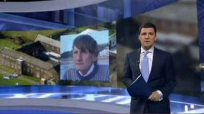 An example of the standing-up presentation discontinued from 2009 - Geraint Vincent presenting an edition of the ITV Evening News in late 2008 ITV News 2008.jpg