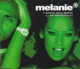 I Want You Back (Mel B song) 1998 single by Melanie B