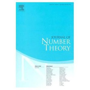 Journal of Number Theory - Image: J Number Th