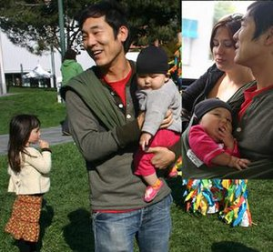 James Kim - Kim with his two daughters.