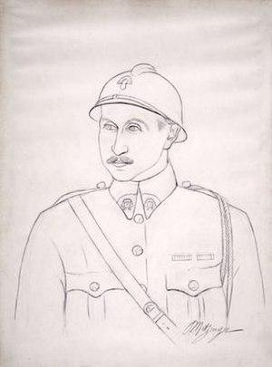 Léonce Rosenberg - Jean Metzinger, 1924, Portrait de Léonce Rosenberg, pencil on paper, 50 x 36.5 cm, Musée National d'Art Moderne, Centre Georges Pompidou, Paris