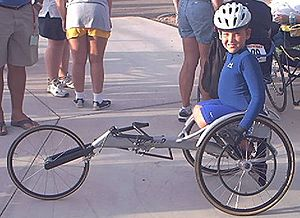 National Junior Disability Championships - Junior disabled athlete Joey Chiavaroli, at the 2004 NJDC in Mesa, Arizona