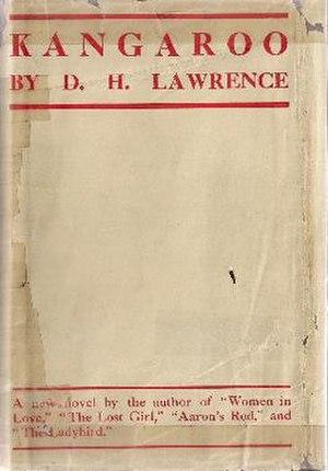 Kangaroo (novel) - First edition (publ. Martin Secker)