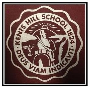 Kents Hill School - Early school seal depicting Luther Sampson's journey to Readfield and school motto, Deus viam indicavit