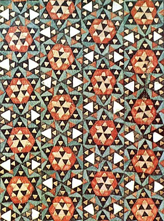 Khatam - Detail of an Iranian jewel box decorated by khatam.