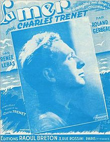 La Mer, Charles Trenet, musical score edited in France, 1946.jpg