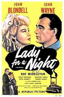<i>Lady for a Night</i> 1942 film