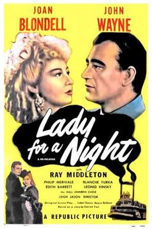 Lady for a Night - Film poster