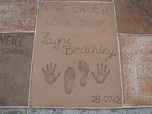 Layne Beachley - Beachley was inducted into the Surfing Hall of Fame in Huntington Beach, California.