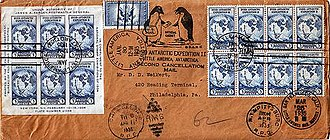 Little America (exploration base) - Byrd Antarctic Expedition II cover, Jan. 30, 1935
