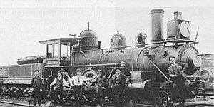 Memphis and Charleston Railroad - 2-6-0 locomotive No. 201
