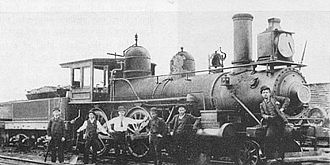 Memphis and Charleston Railroad - 2-6-0 locomotive No. 201