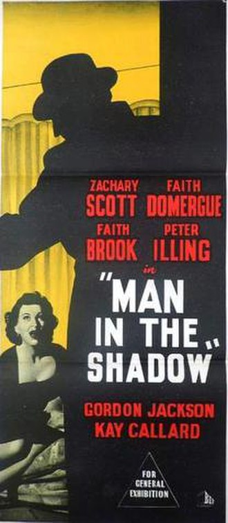 Man in the Shadow (1957 British film) - British theatrical release poster