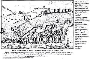Siege of Melilla (1774) - Image: Melilla 1774