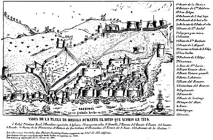 December 9: Start of the two month long Siege of Melilla Melilla 1774.jpg