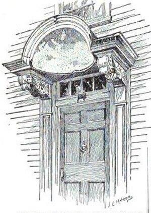 Richard Munday - Munday's door hood on the Ayrault House