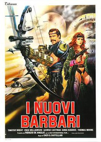 The New Barbarians - Italian theatrical release poster