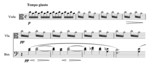 Symphony No. 5 (Nielsen) - The opening of the Tempo giusto section of the first movement