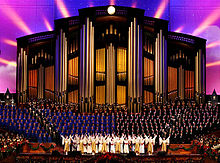 Bells on Temple Square with Dancers and Mormon Tabernacle Choir in LDS Conference Center