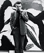 Photograph of Michael kidner at the Trevor Bell exhibition 1962.jpg