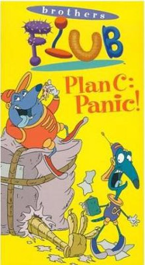 The Brothers Flub - The cover of Plan C: Panic!, depicting Guapo (left) and Fraz