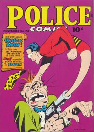 Jack Cole (artist) - Police Comics No. 24 (Nov. 1943). Cover art by Jack Cole