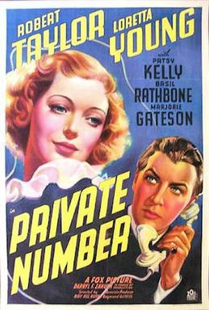 Private Number (1936 film) - Theatrical Film Poster
