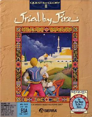 Quest for Glory II: Trial by Fire - PC Cover art