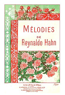 Cover of volume of music, decorated with drawings of red roses