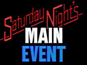 Saturday Night's Main Event - The NBC era logo, 1985–1991