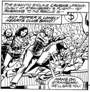 Marvel Comics Super Special - A panel from the unpublished Sgt. Pepper's adaptation.