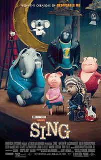 <i>Sing</i> (2016 American film) 2016 American computer-animated jukebox musical comedy-drama film directed by Garth Jennings