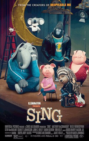 Sing (2016 American film) - Theatrical release poster