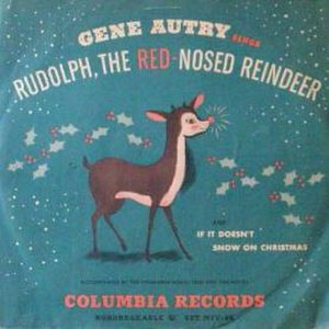 Rudolph the Red-Nosed Reindeer (song) - Image: Single Gene Autry Rudolph, the Red Nosed Reindeer cover
